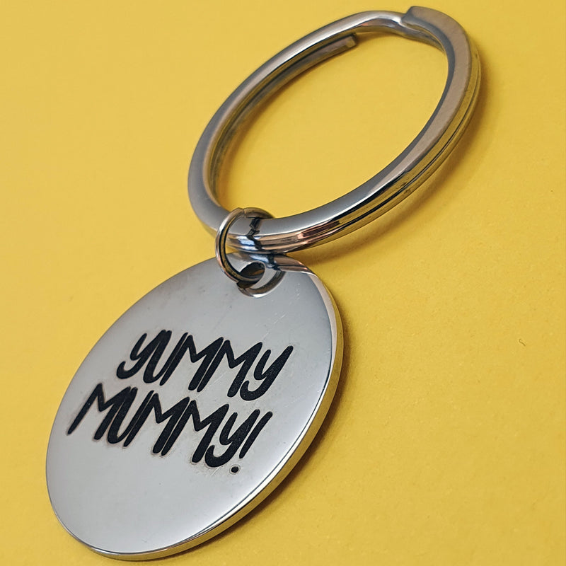 Memento Steel Personalised Special Message Circle Keyring