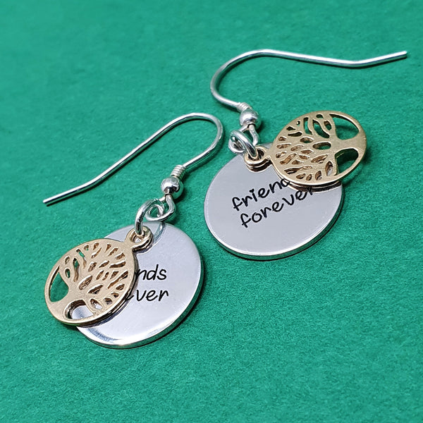 Memento silver personalised special message tree of life earring jewellery