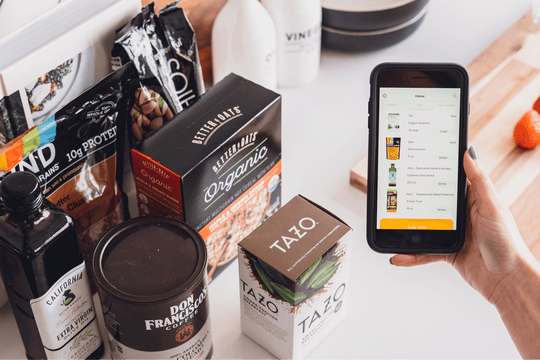 This grocery list app delivers groceries through Instacart to your home