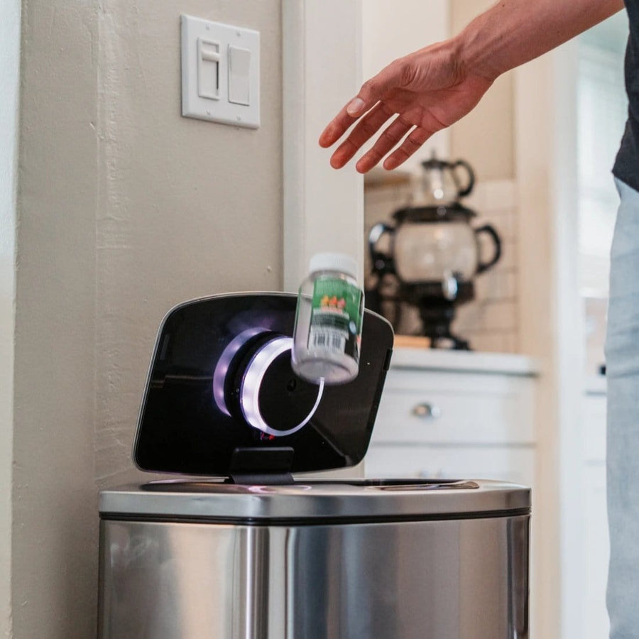 Smart IoT kitchen gadget for recognizing trash that automates into grocery lists and delivers through Instacart