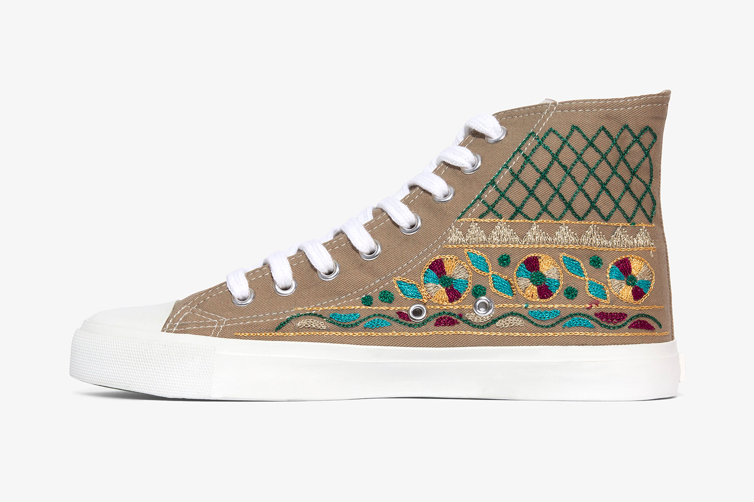 Taupe Tribal High Top