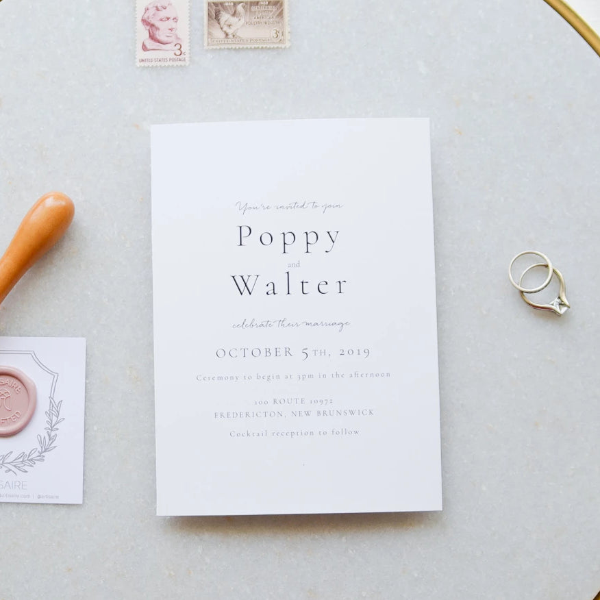 The Poppy Collection - Wedding Invitation