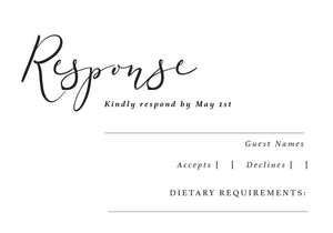 The Kelsey Collection - RSVP Card