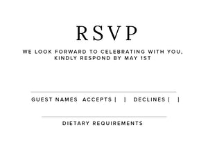 The Loran Collection - RSVP Card