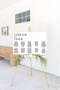 The Loran Collection - Seating Chart