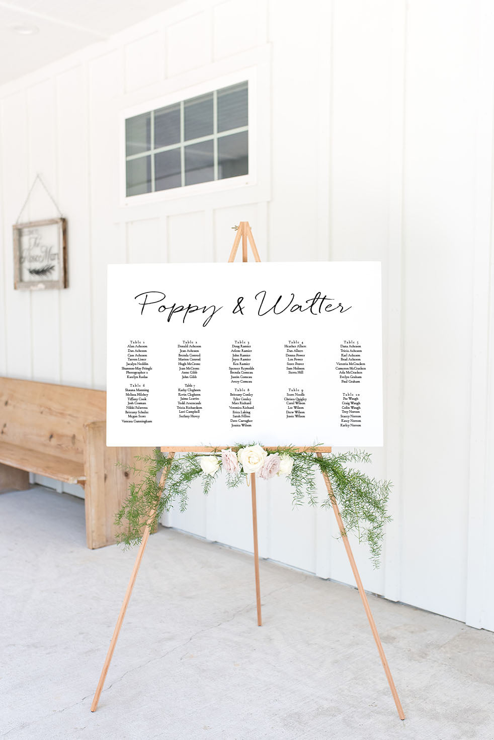 The Poppy Collection - Seating Chart