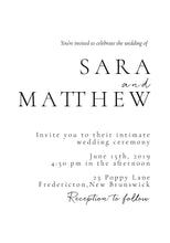 Load image into Gallery viewer, The Sara Collection - Wedding Invitation