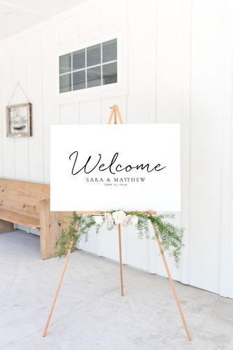 The Sara Collection - Welcome Sign