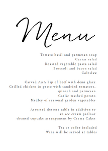 The Sara Collection - Menu