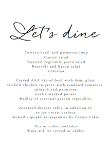 The Poppy Collection - Menu