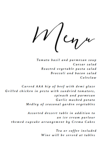 The Kelsey Collection - Menu