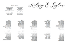 Load image into Gallery viewer, The Kelsey Collection - Seating Chart