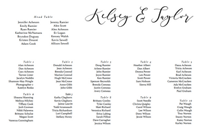 The Kelsey Collection - Seating Chart