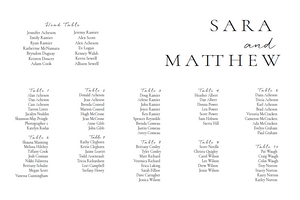 The Sara Collection - Seating Chart