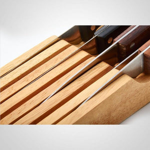 Kitchen Knife Drawer | Tabletop Wooden Organiser