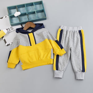 Patchwork Hoodie Tracksuits