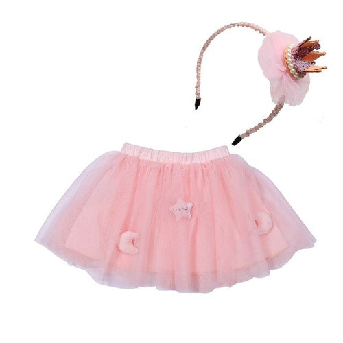 2 PCS Kid Skirt Plus Hairband