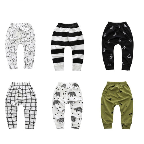 Girls & Boys Geometric Pattern Pants