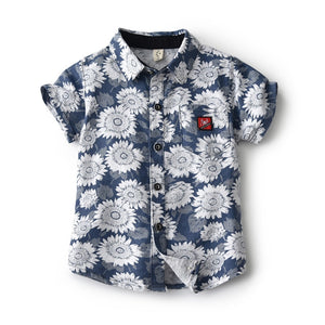 Printed Collar Button-down Shirt