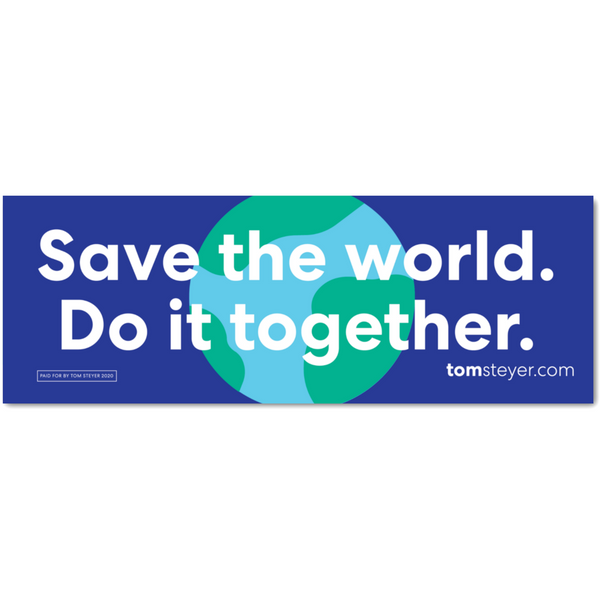 Save the World Bumper Magnet