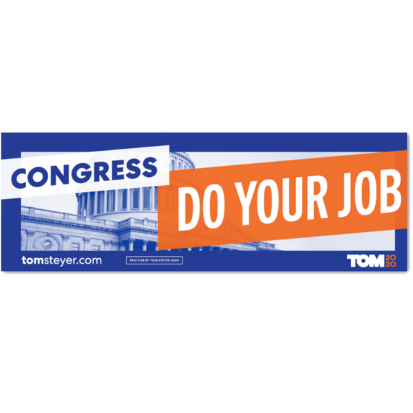 Congress Do Your Job Bumper Magnet