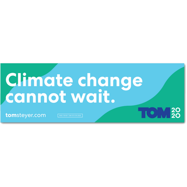 Climate Change Cannot Wait Bumper Magnet