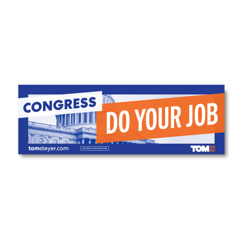Congress Do Your Job Bumper Sticker
