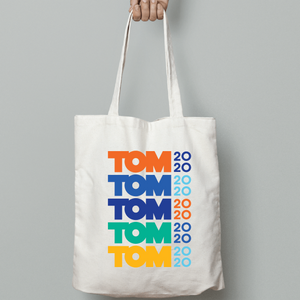 Tom 2020 Stacked Logo Tote