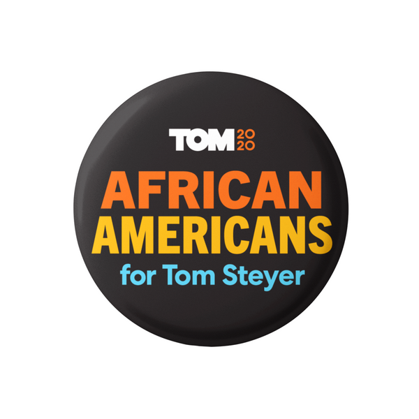 "African Americans for Tom 3"" Button"