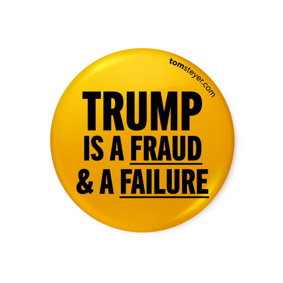 Trump Is a Fraud Button