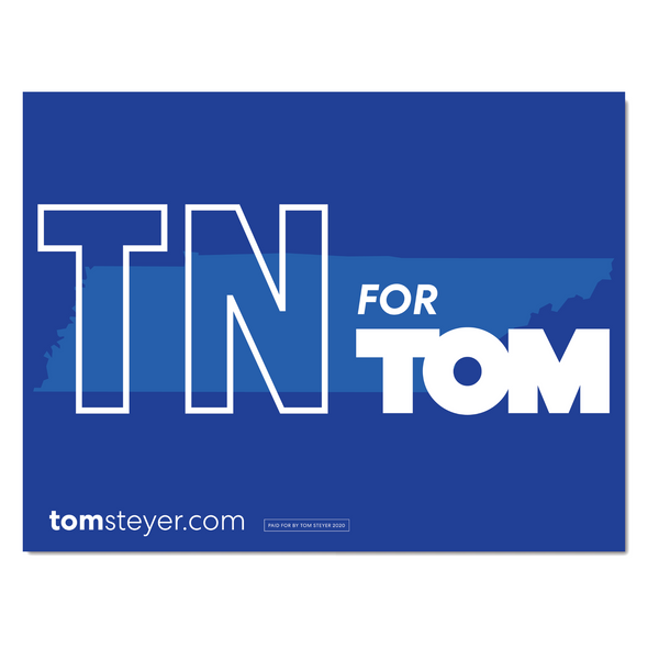 Tennessee for Tom Rally Sign