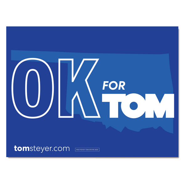 Oklahoma for Tom Rally Sign