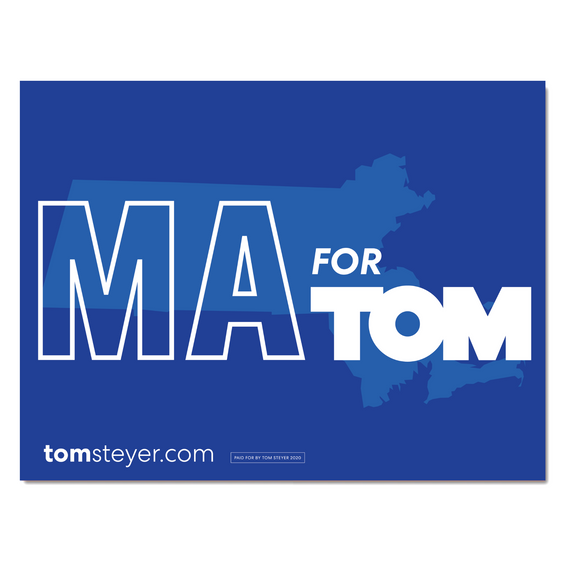 Massachusetts for Tom Rally Sign