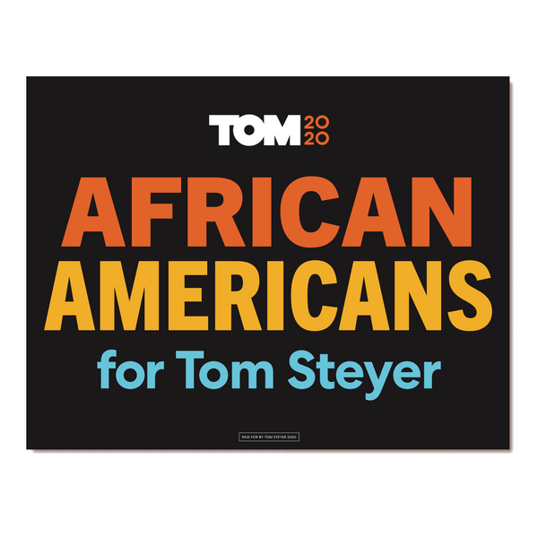African Americans for Tom Poster