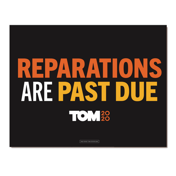 Reparations Are Past Due Poster