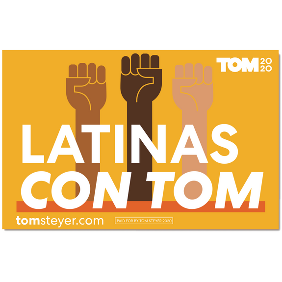 Latinas Con Tom Rally Sign