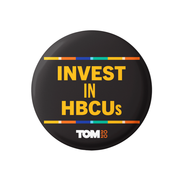 "Invest in HBCUs 3"" Button"