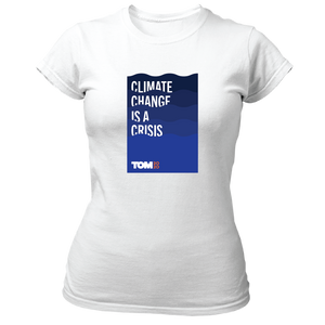 Climate Change is a Crisis Fitted T-Shirt