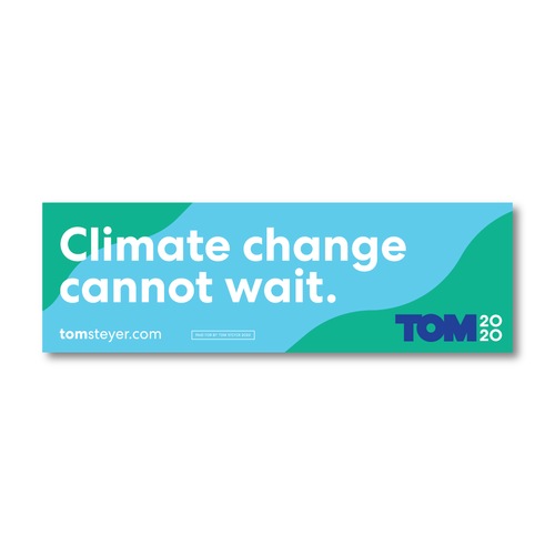 Climate Change Cannot Wait Bumper Sticker
