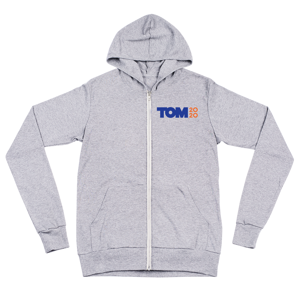 Tom 2020 Grey Zip-Up Hoodie