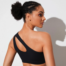 Load image into Gallery viewer, One-Shoulder Sports Bra