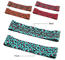 Load image into Gallery viewer, Leopard Anti-Slip Resistance Band Set