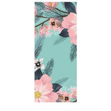 Load image into Gallery viewer, Flower-Power Suede Yoga Mat