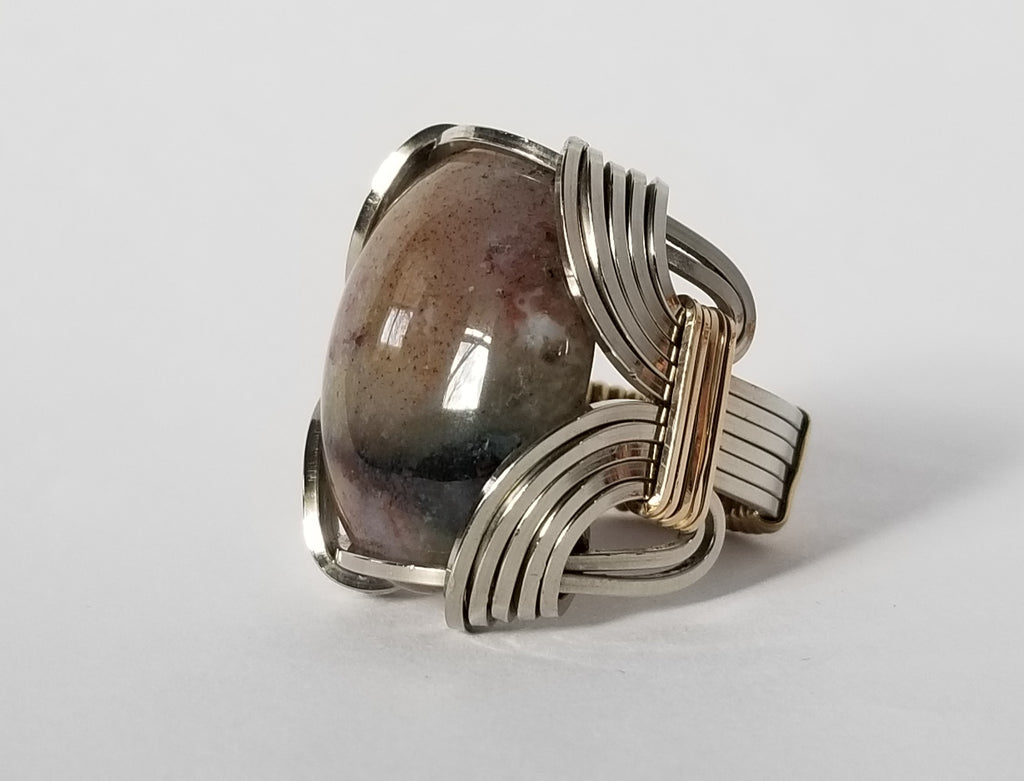 Pharoah Ring | N Silver Brass