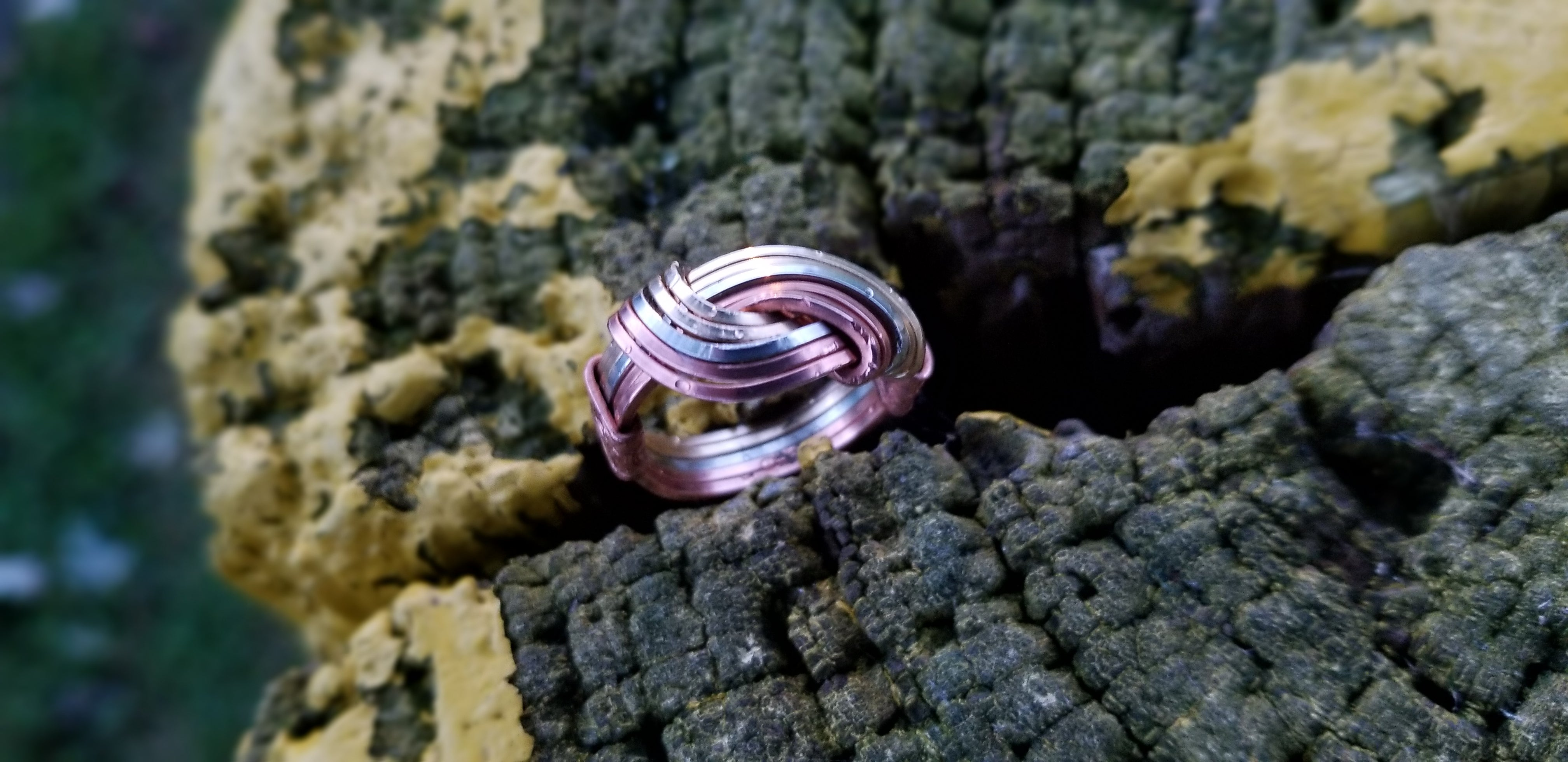 Hug Ring | Copper Brass G Silver