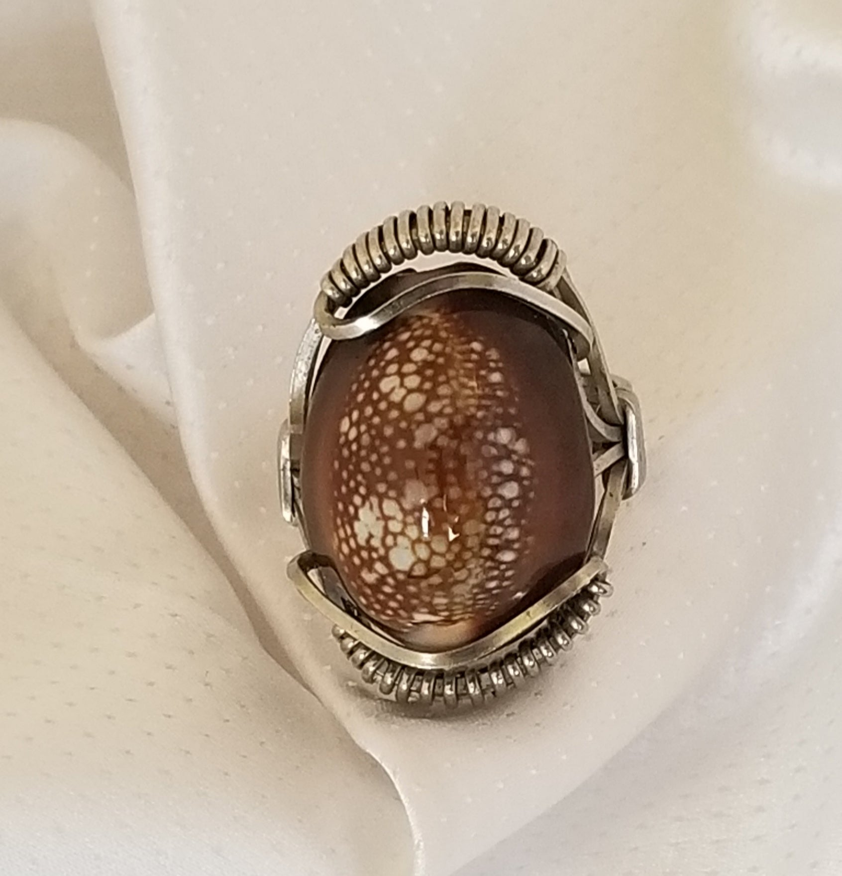 Pharaoh Ring | G Silver, Cowrie Shell