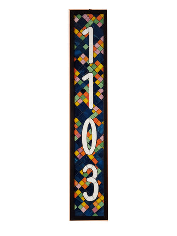 Custom Stained Glass Mosaic House Number Plaque
