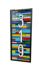 A House Number Plaque Stained Glass Mosaic