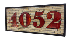 Custom House Number Plaque