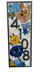 Custom House Number Plaque with Decorative Elements